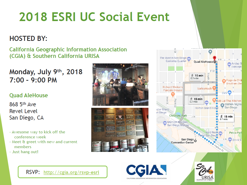 Feel free to bring a friend and introduce them to the CGIA and SoCal URISA  family. 70a6de481